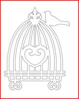 oiseau sur cage